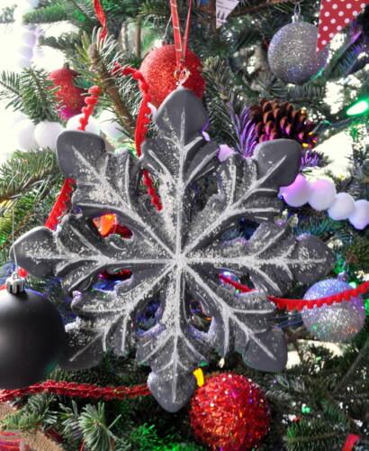 Chalkboard Flocked Ornaments 38