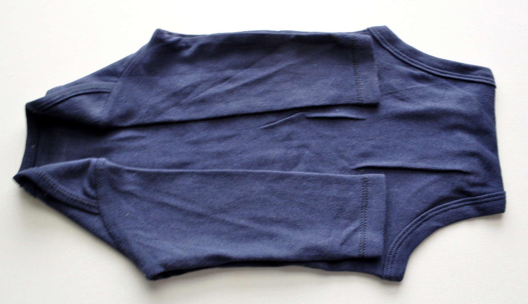 Fold onesie for gift
