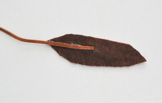 Glue leather with E6000 glue