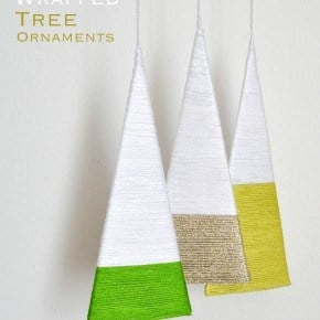 Modern Wrapped Tree Ornaments madeinaday.com