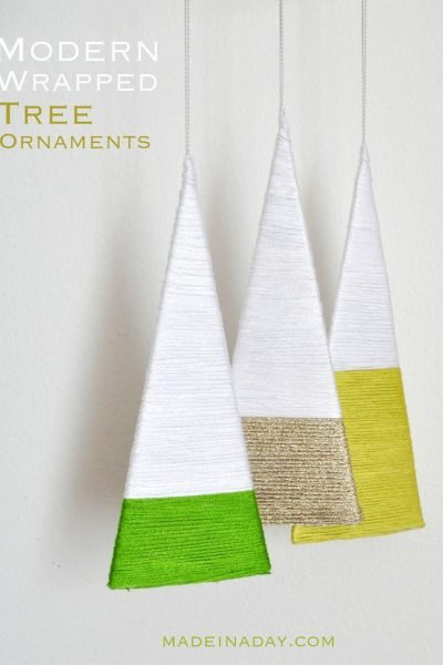 Modern Wrapped Tree Ornaments
