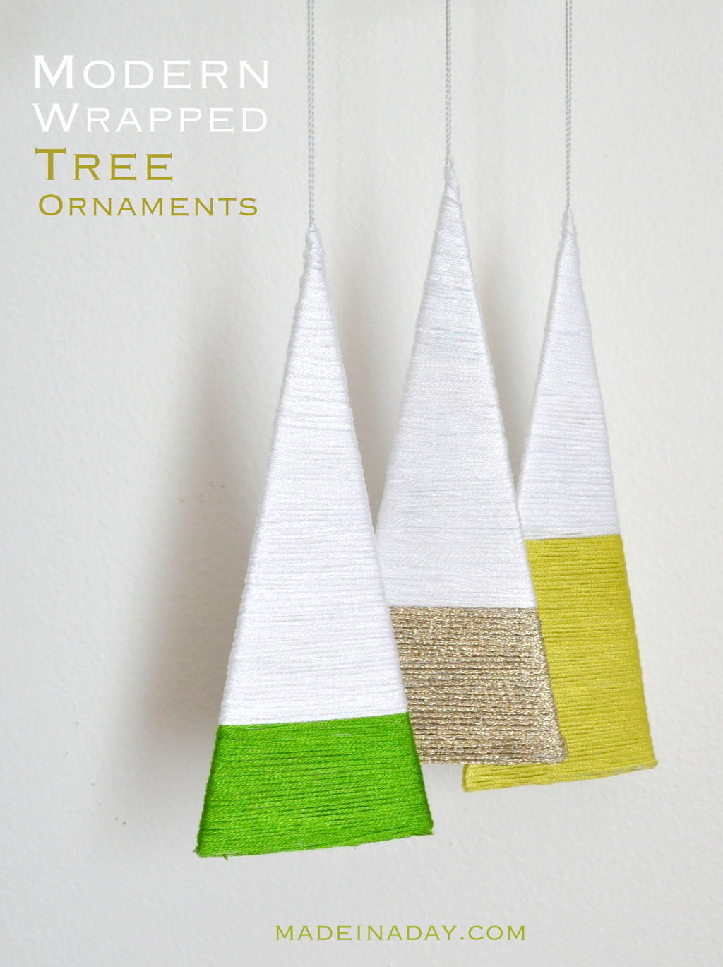 thread wrapped ornaments