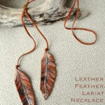Sparkling Rustic Leather Feather Arrow Ornaments 3
