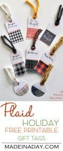 Plaid Holiday FREE Printable Gift Tags 1
