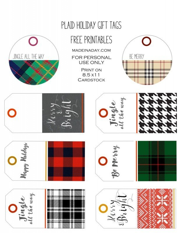 Plaid holiday free printable gift tags plaid holiday gift tags free printables madeinaday negle Gallery