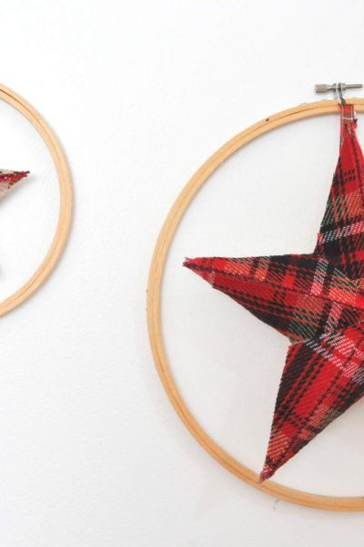 Plaid Fabric Stars