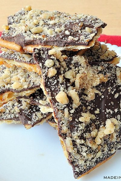 Sweet and Salty Chocolate Crunch Bars