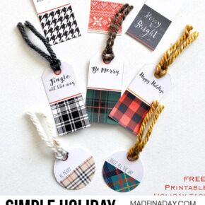 Plaid Holiday FREE Printable Gift Tags 1