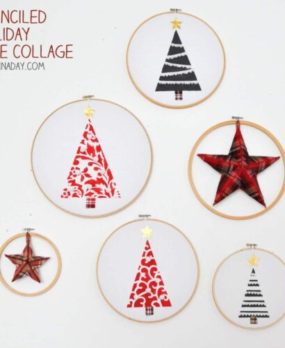 Festive Farmhouse Embroidery Hoop Holiday Tree Collage 31