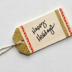 Washi Tape Gift Tag on madeinaday.com