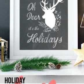 Oh Deer Holiday FREE Printables 1