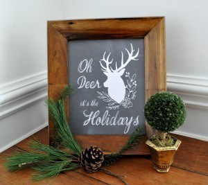 Oh Deer Holiday FREE Printable on madeinaday.com