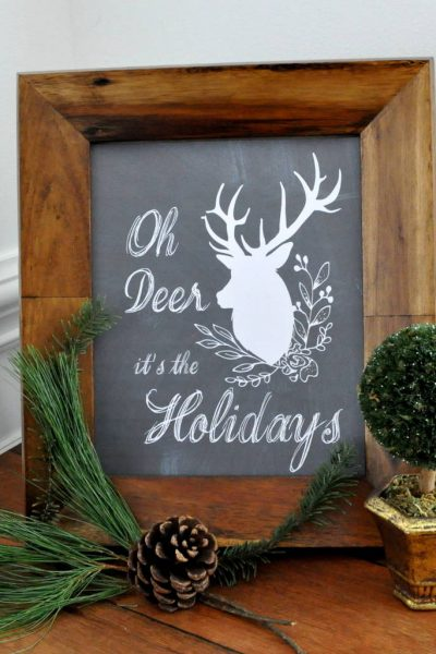 Oh Deer Holiday FREE Printables