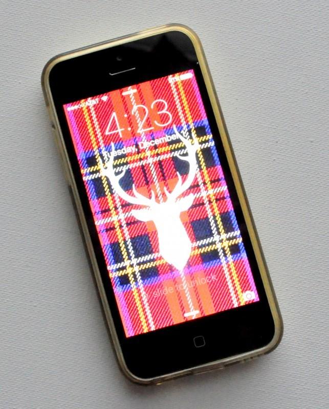 Plaid Deer Phone Wallpaper