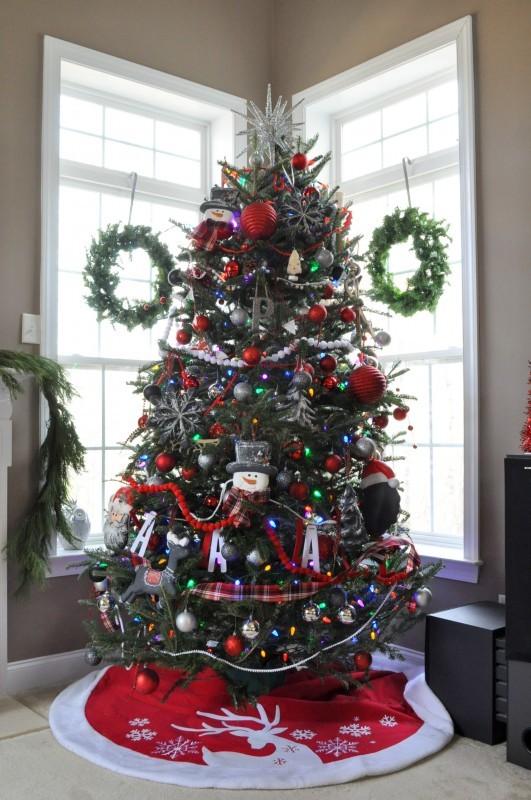 Tree in Family Room