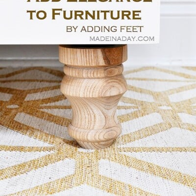 How to Add Feet Legs to Furniture