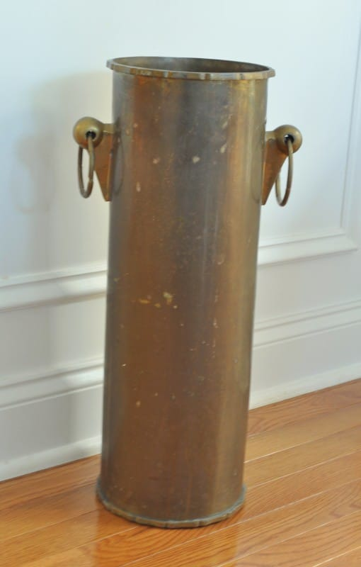 Clean tarnished brass with home remedies before pic