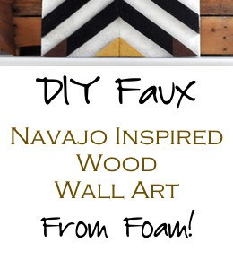 DIY Navajo Patterned Wall Art 1