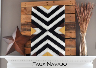 DIY Navajo Wood Wall Art from foam on madeinaday.com