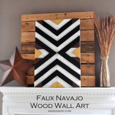 DIY Navajo Patterned Wall Art
