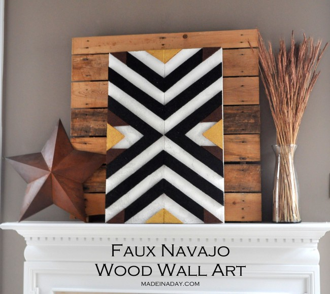 DIY Navajo Wood Wall Art from foam on madeinaday.com