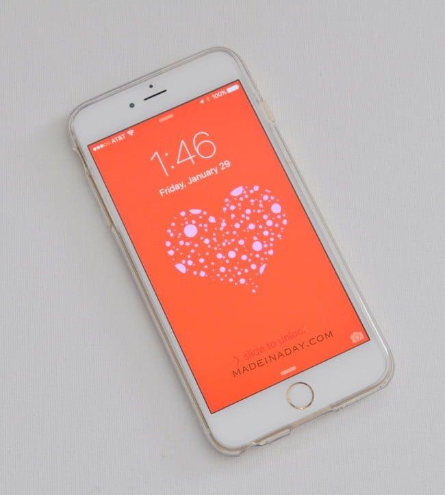 FREE Valentines Day Phone Screensavers madeinaday.com