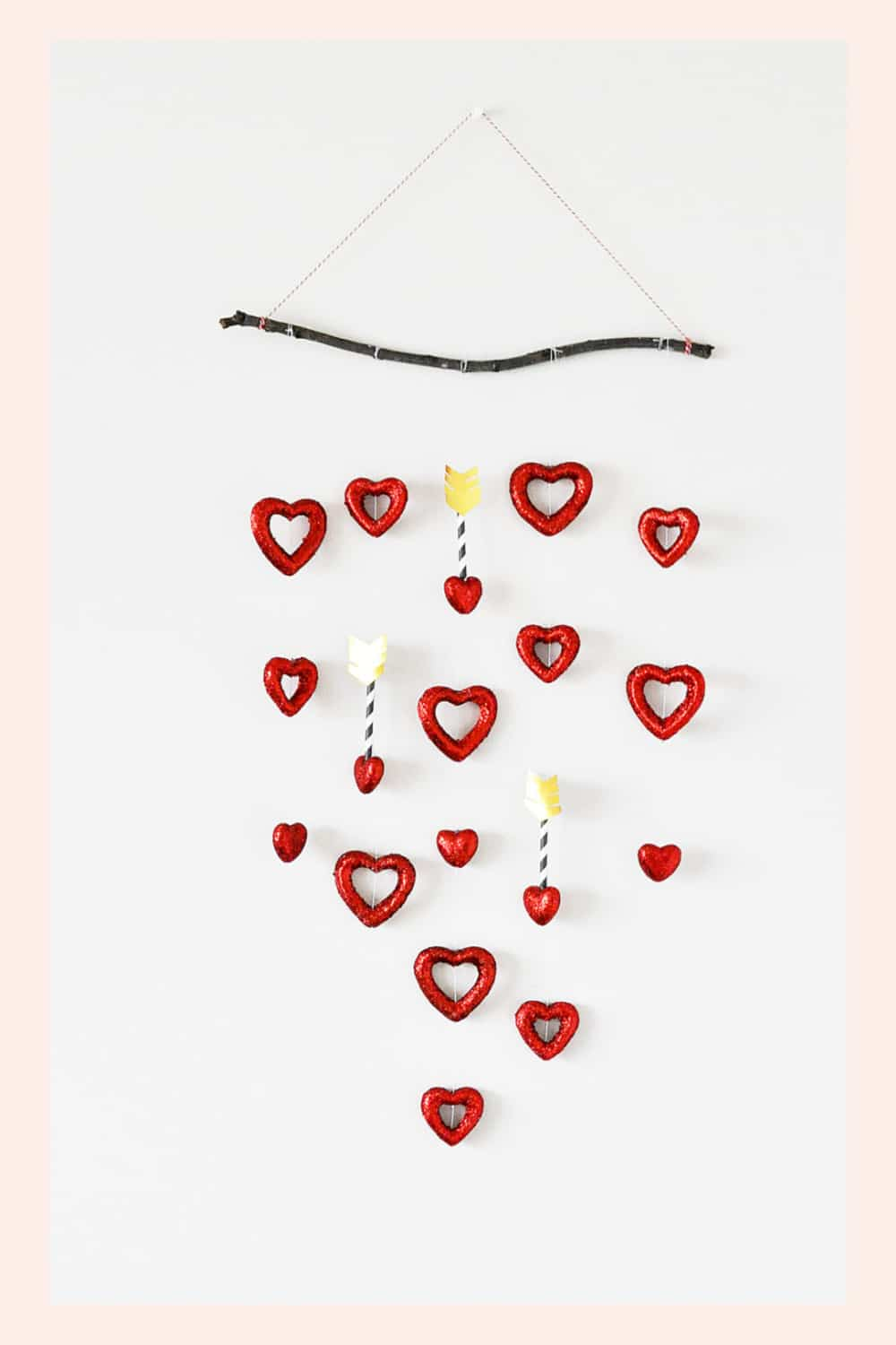 DIY Valentine Arrow and Heart Wall Hanging