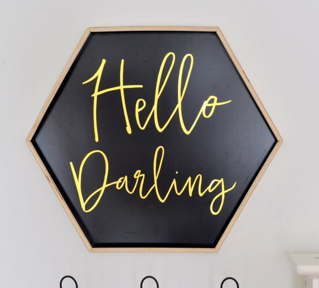 Hello Darling DIY Sign Tray madeinaday.com