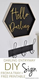 Hello Darling Sign FREE Printable 1