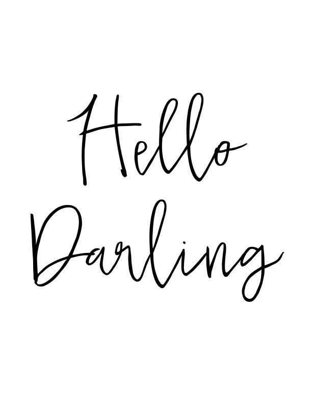 Hello Darling madeinaday.com