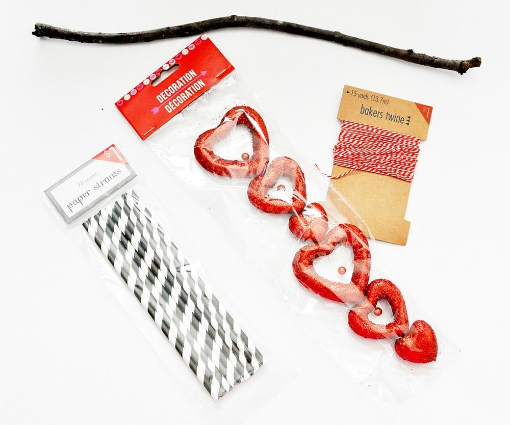 Dollar Store valentine crafts