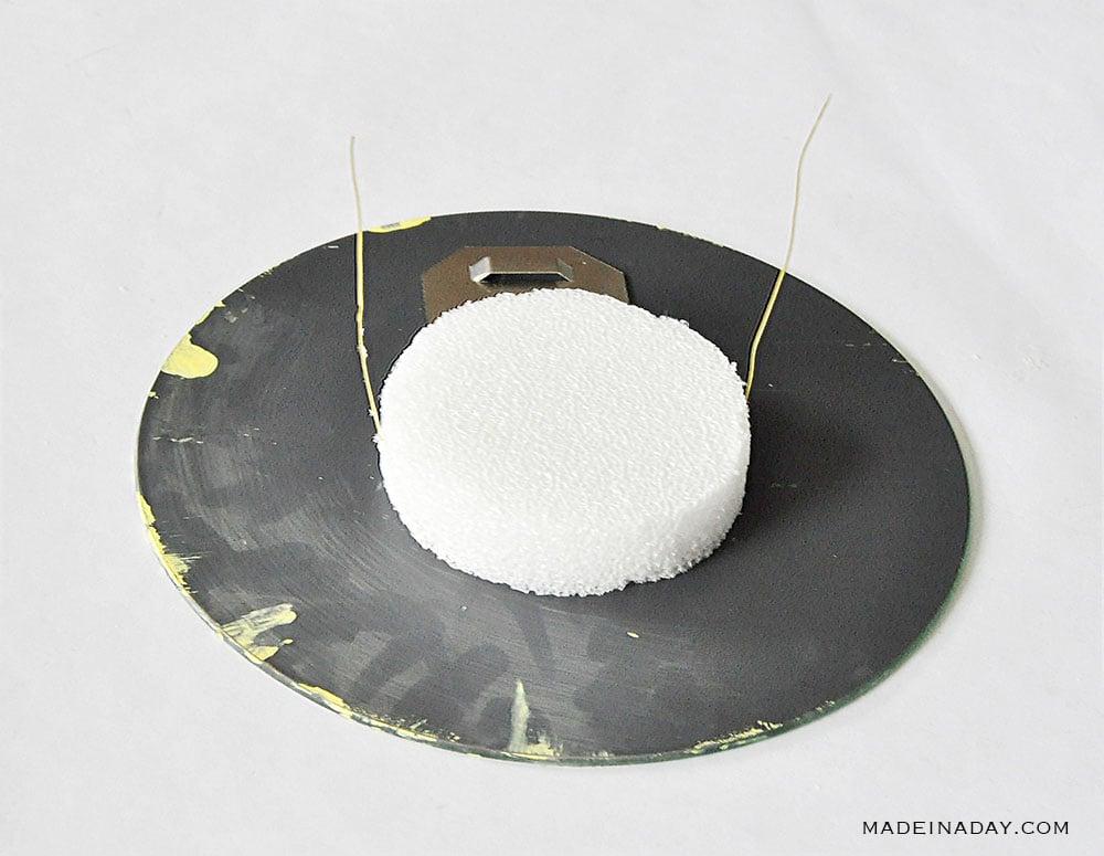glue foam to mirror