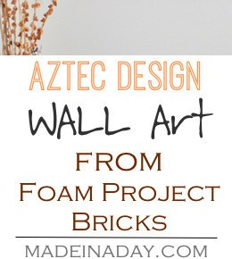 DIY Aztec Pattern Wall Art 29