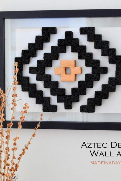 DIY Aztec Pattern Wall Art