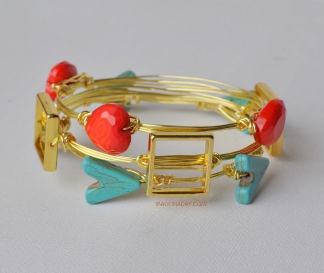 DIY Stone Wire Bracelet madeinaday.com