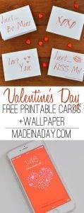 Simple Modern Valentines Day Card Printables 1
