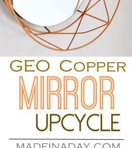 DIY Geometric Decorative Mirror 1
