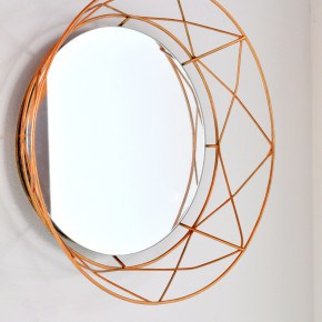 Geometric Copper Mirror Upcycle madeinaday.com