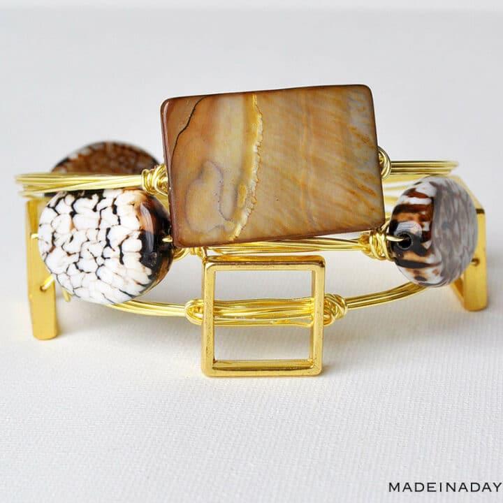 DIY Cowrie Shell Stack Bracelets 9
