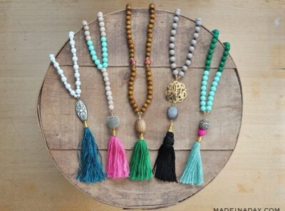 How to Make Trendy DIY Beaded Tassel Necklaces