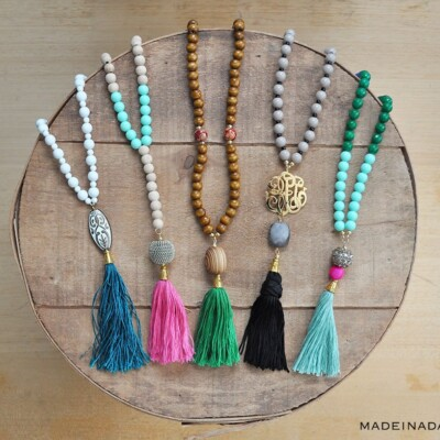 How to Make DIY Beaded Tassel Necklaces