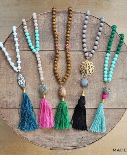 How to Make Trendy DIY Beaded Tassel Necklaces 32