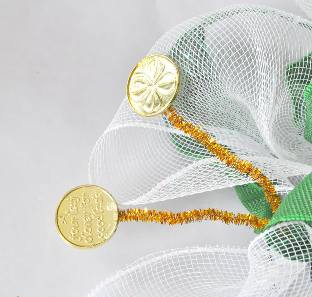 DIY Gold coin floral picks