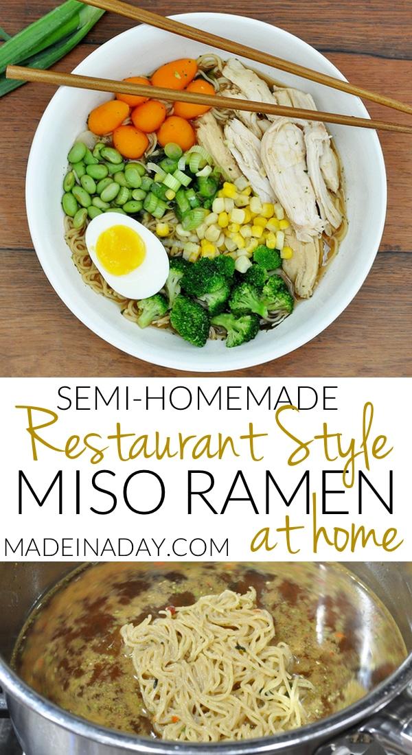 Use rotisserie #chicken. frozen veggies, a soft boiled egg, a green onion and a Lotus Rice Noodles Miso Ramen mix to create an endless variety of soups!  Dash Egg Cooker, #misoramen #ramen