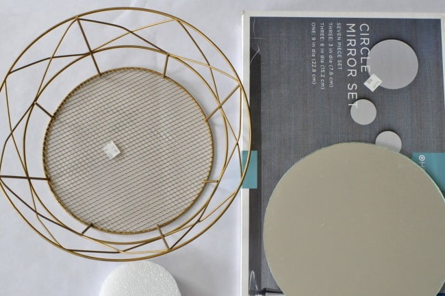 Simple geo mirror from a basket
