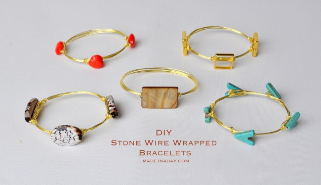 Stacked bracelet tutorial on madeinaday.com