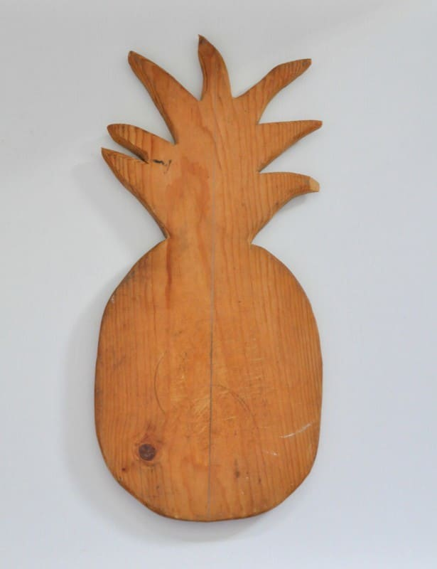 Turn a cutting board into wall art Geo Pineapple