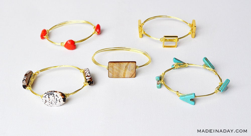 bangle bracelets with stones