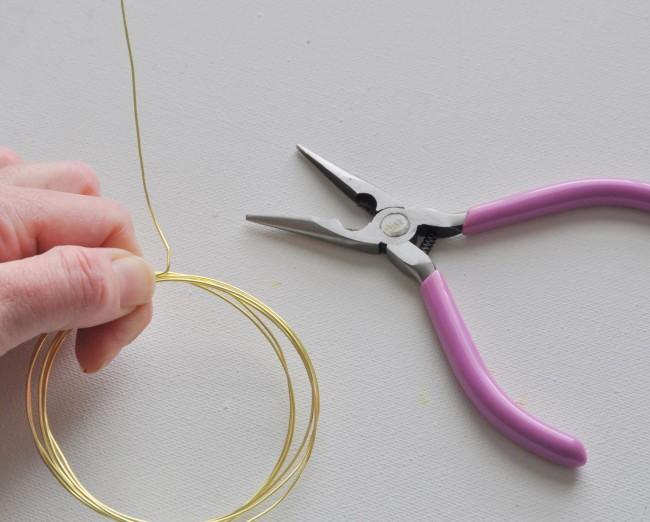 Wrap wire around bracelet