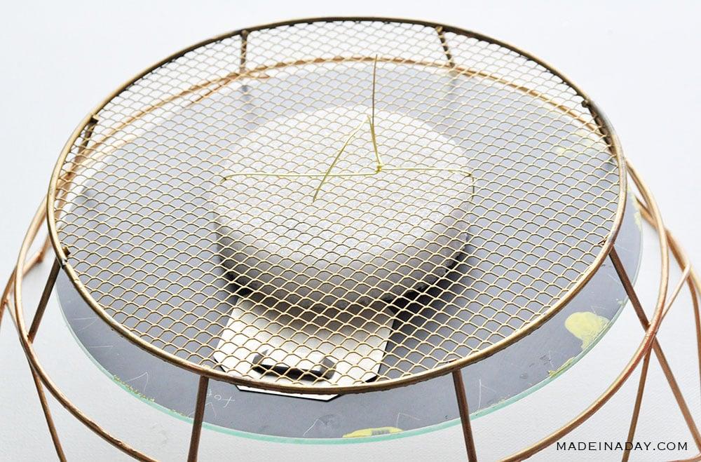 wire foam to basket